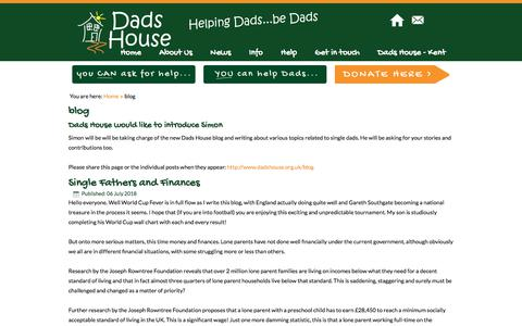 Screenshot of Blog dadshouse.org.uk - blog - Dads House - Helping Dads be Dads - captured Aug. 5, 2018