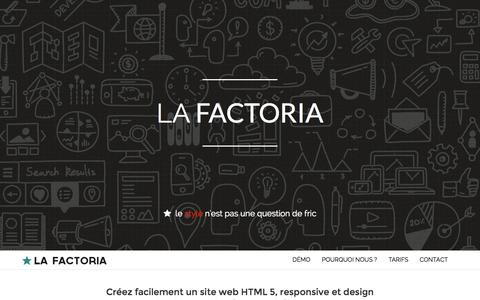 Screenshot of Home Page Contact Page lafactoria.fr - Accueil | La Factoria - captured Sept. 26, 2014
