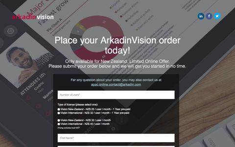 Screenshot of Landing Page arkadin.com - Video Conferencing Next Generation   Arkadin Vision   Buy Now - captured May 11, 2018