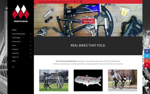 Screenshot of Home Page montaguebikes.com - Folding Bikes | Montague Bikes - captured Nov. 17, 2015
