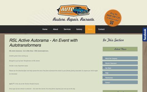 Screenshot of Press Page autotransformers.com.au - News - captured May 31, 2017
