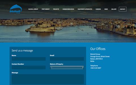 Screenshot of Contact Page bluhullgroup.com - Contact - Bluhull Group - captured Sept. 25, 2018