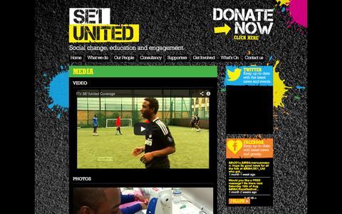 Screenshot of Press Page se1united.org.uk - Media | SE1 United - captured Sept. 30, 2014