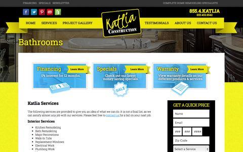 Screenshot of Services Page katlia.com - Services - captured Oct. 6, 2014