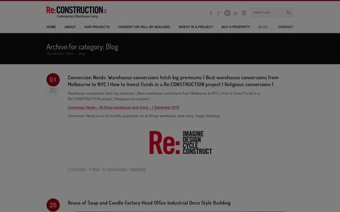 Screenshot of Press Page re-construction.com.au - Blog Archives - Re:CONSTRUCTION - captured Jan. 10, 2016