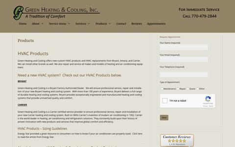 HVAC Products offered by Green Heating and Cooling - Canton