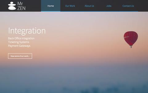 Screenshot of Home Page mrzen.com - Mr Zen - Specialist Website Development Travel & Bespoke Websites - captured Sept. 23, 2015