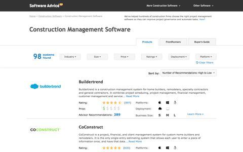 Best Construction Management Software - 2018 Reviews