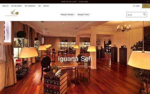 Screenshot of Home Page iguanasell.com - Pens & Watches: Aurora, Montegrappa, Namiki, ST Dupont, Visconti, Pelikan, Platinum, Nakaya, Omas, Ball, Maurice Lacroix, Glycine, Eterna, Porsche Design - captured Sept. 12, 2018