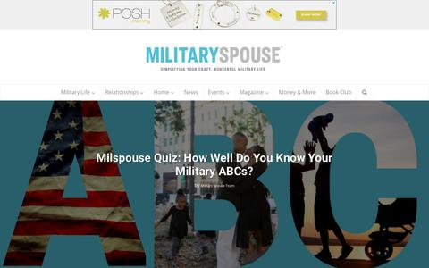 Screenshot of Home Page militaryspouse.com - Military Spouse | Simplify Your Crazy, Wonderful Military Life - captured Aug. 26, 2018