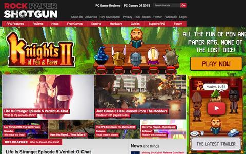 Screenshot of Home Page rockpapershotgun.com - Rock, Paper, Shotgun - PC Game Reviews, Previews, Subjectivity | - captured Oct. 26, 2015