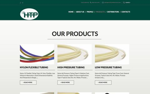 Screenshot of Products Page hitechprofiles.com - Products - captured Sept. 26, 2018