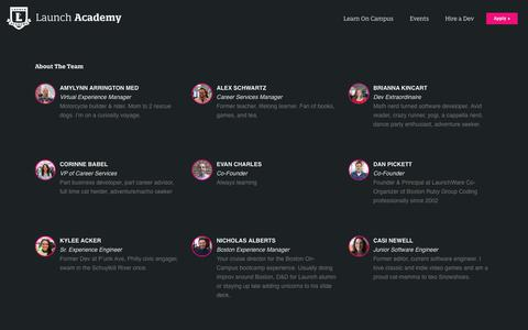 Screenshot of Team Page launchacademy.com - Team - Launch Academy - captured Nov. 13, 2019