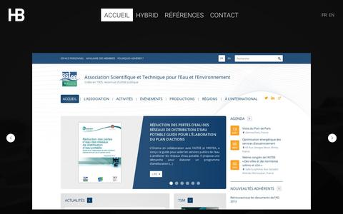 Screenshot of Home Page agence-hybrid.com - HYBRID . Agence coopŽrative de design - captured Dec. 28, 2015