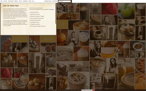 Screenshot of Jobs Page torani.com - CAREERS   Torani - captured Sept. 24, 2014