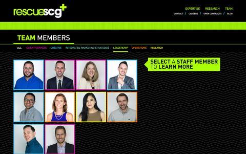 Screenshot of Team Page rescuescg.com captured Oct. 26, 2014