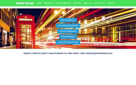 """Screenshot of Home Page intimegroup.co.uk - Intime Group 