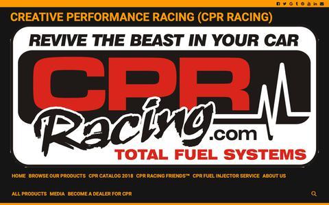 Screenshot of Press Page cprracing.com - Media - CREATIVE PERFORMANCE RACING (CPR RACING) - captured Dec. 16, 2018