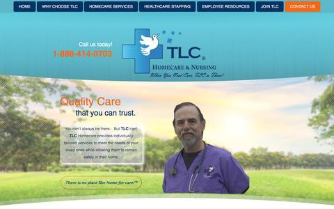 Screenshot of Contact Page tlcnursing.com - Contact Us - TLC Nursing Associates, Inc. & TLC HomeCare services, Inc. - Vermont and New Hampshire - captured Dec. 1, 2016