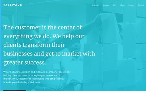 Screenshot of Home Page tallwave.com - Business Design & Innovation - Digital Marketing Agency | Tallwave - captured Jan. 30, 2018