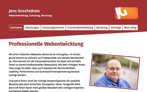 Screenshot of Home Page grochtdreis.de - Grochtdreis.de - captured Sept. 21, 2017