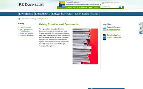 Screenshot of Services Page rrdonnelley.com - Catalog Range of Service | RR Donnelley - captured Nov. 11, 2015