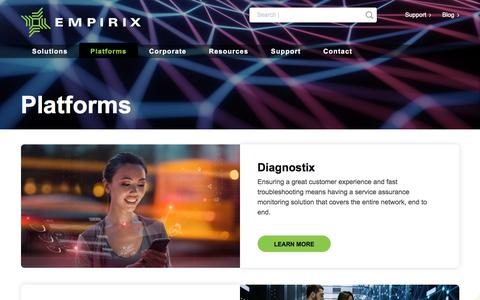 Screenshot of Products Page empirix.com - Customer Experience Management Platforms – Empirix - captured Aug. 6, 2019