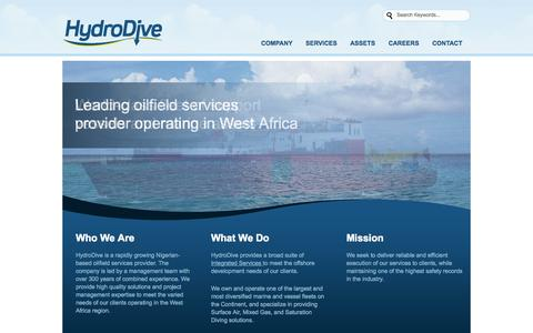 Screenshot of Home Page hydrodive.com - Home « HydroDive HydroDive - captured Jan. 23, 2015