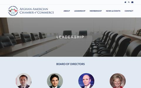 Screenshot of Team Page a-acc.org - Leadership | AACC | Afghan-American Chamber of Commerce - captured Oct. 7, 2017