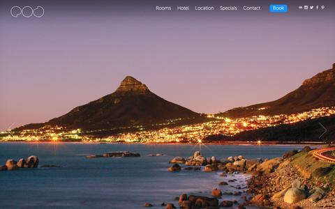 Screenshot of Home Page pod.co.za - POD • Boutique Hotel • Camps Bay - captured Jan. 24, 2016
