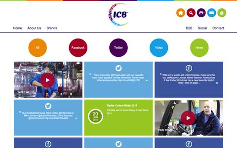 Screenshot of Press Page icbrands.co.uk - ICB - Social - captured Feb. 11, 2016