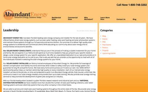 Screenshot of Team Page abundantenergy.com - Leadership - Abundant Energy Inc - captured Oct. 4, 2014