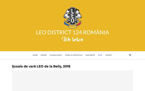 Screenshot of Blog leoclubs.ro - Blog | Leo D124 România | Asociația cluburilor LEO din România - captured Sept. 28, 2018