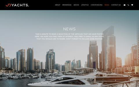 Screenshot of Press Page jdyachts.com - News - captured Nov. 5, 2018