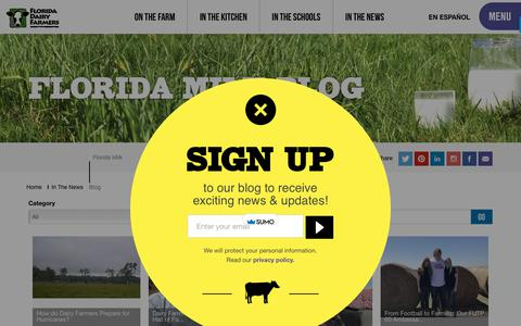 Screenshot of Blog floridamilk.com - Florida Milk Blog - captured Oct. 30, 2018