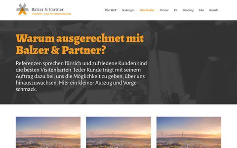 Screenshot of Case Studies Page balzer-partner.de - Case Studies - Balzer und Partner - captured Nov. 13, 2018