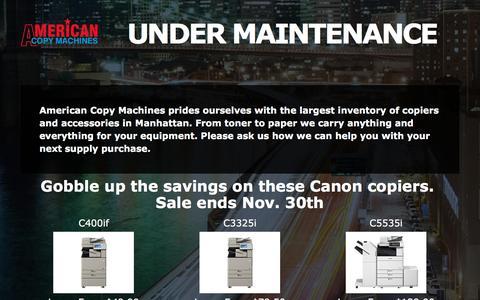 Screenshot of Home Page americancopymachines.com - Coming Soon - captured Nov. 20, 2016