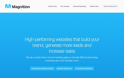 Screenshot of Home Page magnition.co.uk - Inbound Marketing and Creative Agency based in Scotland | Magnition - captured Dec. 9, 2017