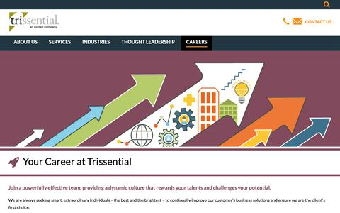 Screenshot of Jobs Page trissential.com - Trissential Careers - captured March 18, 2019