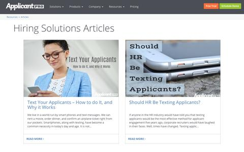ApplicantPro Hiring Solutions Articles | ApplicantPro