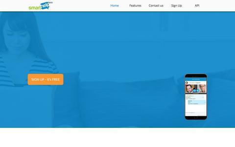 Screenshot of Home Page smarthelp.eu - Homepage | SmartHelp E-Service - captured Feb. 4, 2016