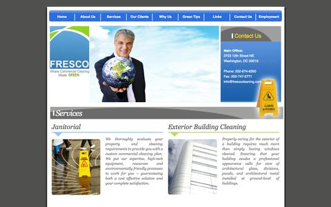 Screenshot of Services Page frescocleaning.com - Fresco Cleaning ::. Services - captured Oct. 6, 2014