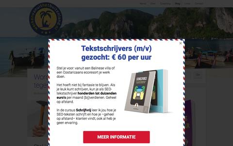 Screenshot of Blog werkenvanuithetbuitenland.nl - Blog: artikelen en interviews met digitale nomaden | WVHB - captured Feb. 14, 2016