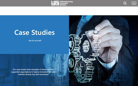 Screenshot of Case Studies Page hssmi.org - Case Studies - HSSMI - captured July 15, 2018