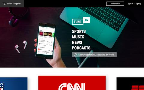 TuneIn | Free Internet Radio | NFL, Sports, Podcasts, Music & News