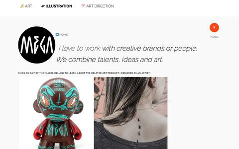 Screenshot of Products Page ilovemega.com - ART PRODUCTS | Design and artworks for brands - captured Dec. 23, 2016