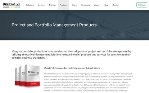 Screenshot of Products Page ims-web.com - Project and Portfolio Management Products | Innovative Management Solutions - captured Dec. 2, 2018