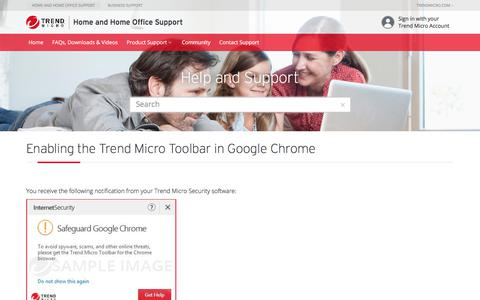 Enabling TM Toolbar in Google Chrome  | Trend Micro Security