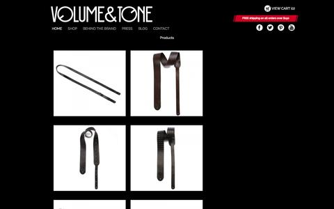 Screenshot of Products Page volumeandtone.com - Volume & Tone Product | Volume & Tone Guitar Straps - captured Oct. 26, 2014