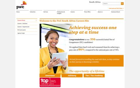 Careers Home - PwC South Africa